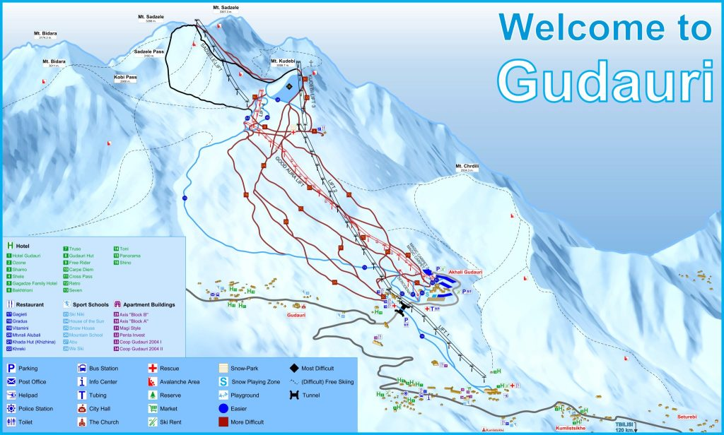 Gudauri sitemap
